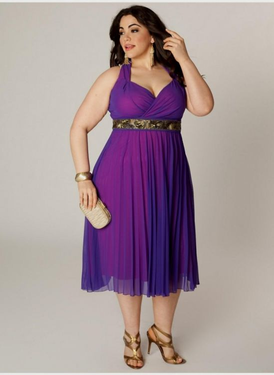 Plus Size Purple Cocktail Dress – Fashion dress