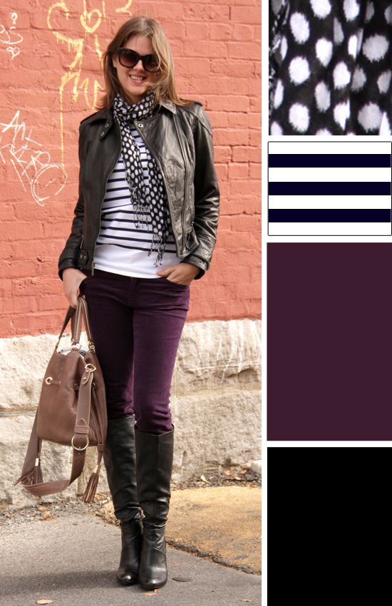 What I Wore: Landed | Cute dress outfits, Purple skinny jeans .