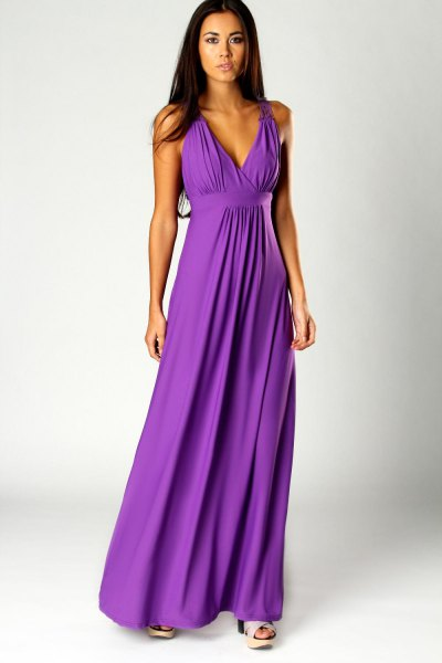 How to Wear Purple Maxi Dress: 15 Beautiful & Deep Outfit Ideas .