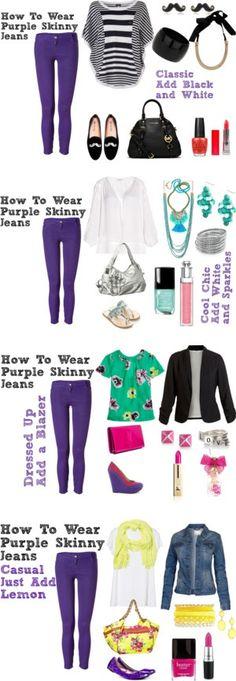 180 Best Purple Jeans images | Purple jeans, Fashion, Purp