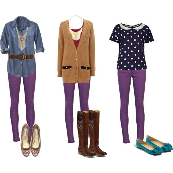have purple jeans from winter? Here are some spring options .