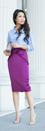 68 Best Purple Skirt images in 2020 | Professional outfits, Purple .