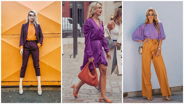 Yes! You Can Wear Orange and Purple Together and Look Incredibly Ch