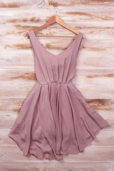Love this simple dress! | Mauve dre
