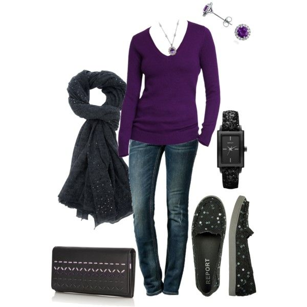 Purple Sweater | Purple sweater, My style, Fashi