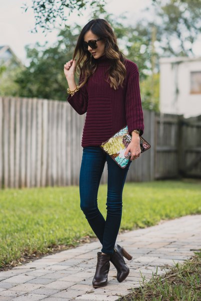 15 Attractive & Ladylike Purple Sweater Outfit Ideas for Ladies .