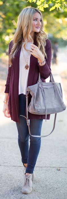 10 Best Purple Cardigan Outfits images | Cardigan outfits, Outfits .