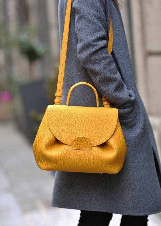 23 bright color handbag outfit ideas | Yellow handbag, Bags, Prada .