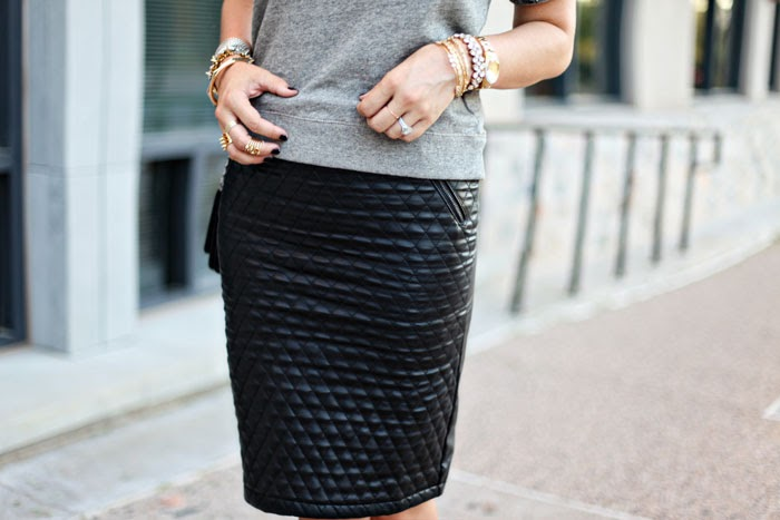Leather Pencil Skirt - Dash of Darli