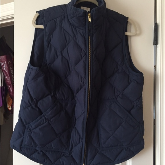 J. Crew Jackets & Coats | Jcrew Factory Womens Quilted Vest Xlnavy .