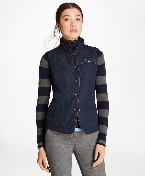 Water-Repellent Diamond-Quilted Vest | Brooks Brothe