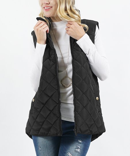 Black Diamond-Quilted Vest - Women | Zuli
