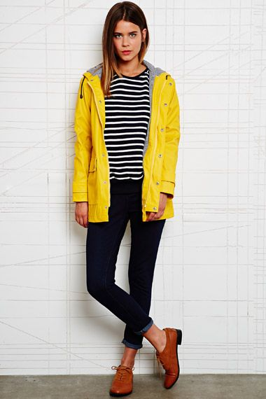 Petit Bateau Raincoat in Yellow at Urban Outfitters | Raincoat .