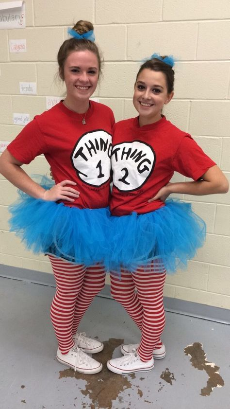 Thing One and Thing Two costumes for Twin day! Red Thing One and .