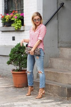 32 Best Red And White Striped Shirt Outfit Ideas images in 20