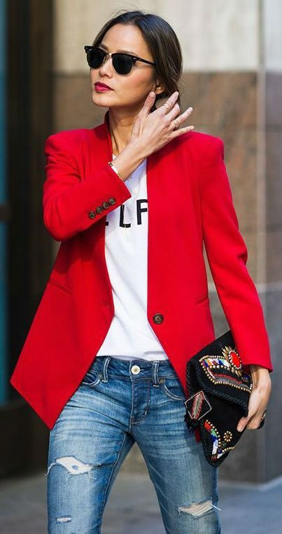 46 Trendy Ideas for Combining Blazer with Jeans in 2020 | How to .