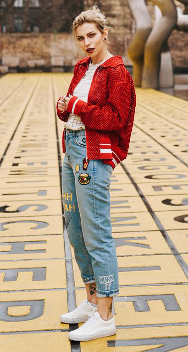 Cherry red bomber jackets | HOWTOWEAR Fashi