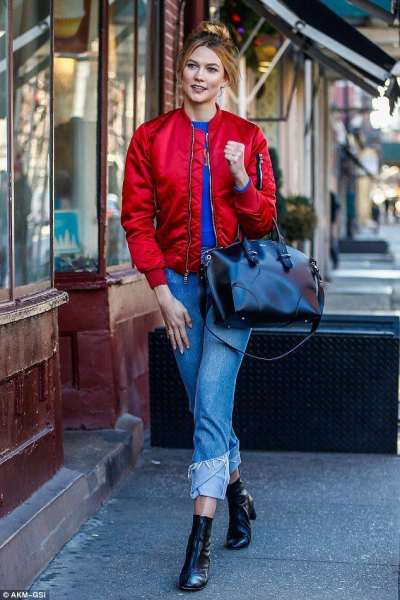 How to Wear Red Bomber Jacket: 13 Stunning Outfits for Ladies .