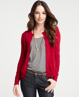 I do believe I would enjoy a red cardigan for fall | Red cardigan .