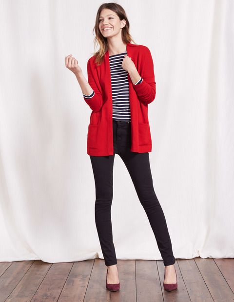 Boden Ivy red Cardigan | Red cardigan outfits, Red cardigan .