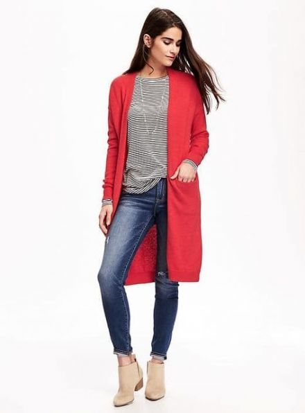 How to wear red cardigan work outfits 17+ Ideas   Red cardigan outfi