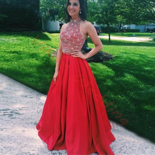 Red Halter Top Dress – Fashion dress