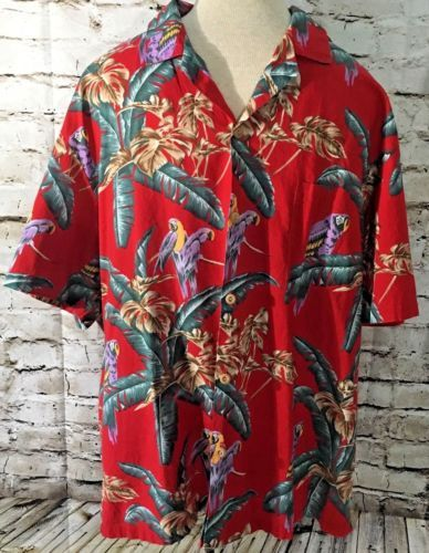 Details about Vintage 3XL Paradise Found Hawaiian Shirt Magnum PI .