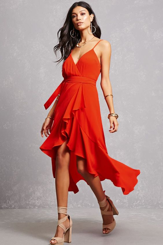Red High Low Dress: 14 Casual and Elegant Outfit Ideas - FMag.c