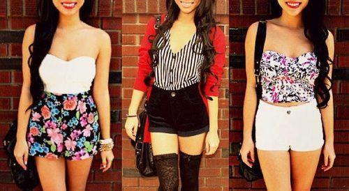 Three high waisted shorts outfit ideas (With images) | Cute fall .