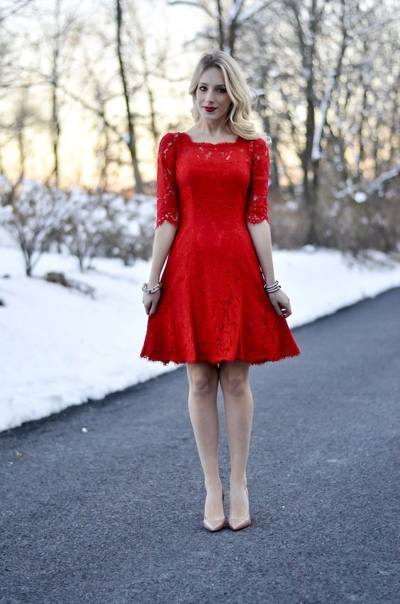 50 Elegant Red Dress Outfits Ideas That Are Still Sexiest | Red .