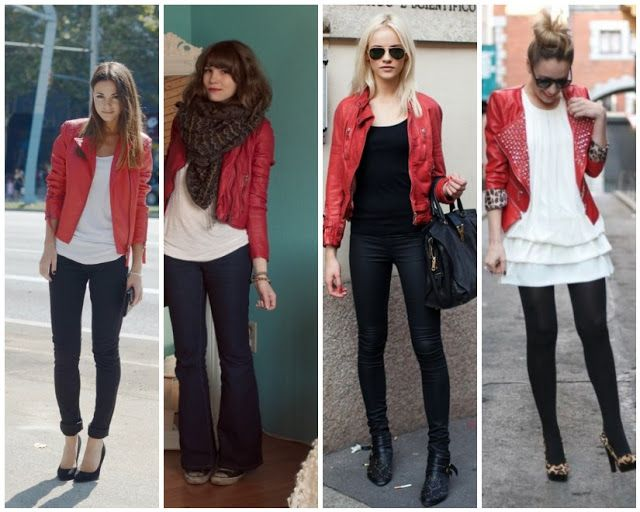 Red jacket | Red jacket leather, Red leather jacket outfit .