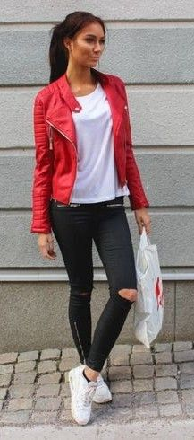50 Different Ways To Dress Sporty On Spring | Jacket outfit women .