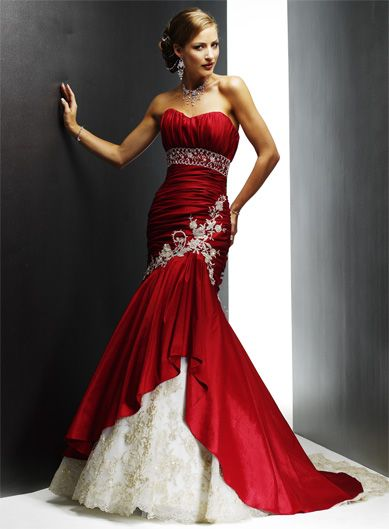 Ideas For Unique Non Traditional Wedding | Red wedding dresses .