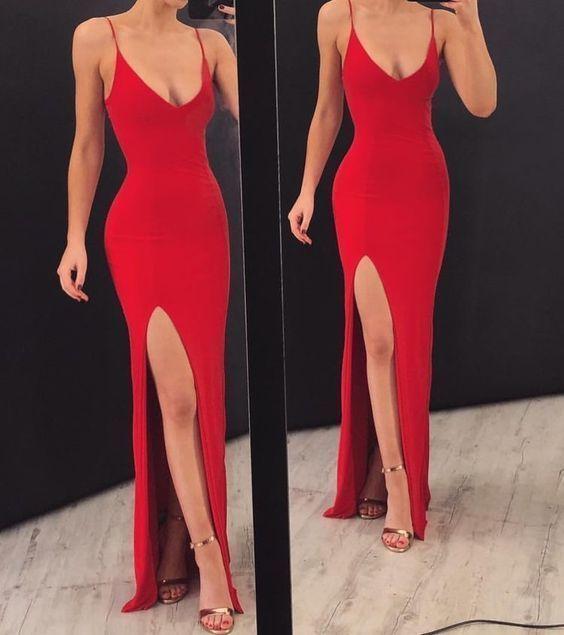 Prom Dress İdeas | Red mermaid prom dress, Chic prom dresses, Ball .