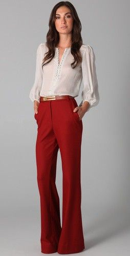 9 ways to wear red pants outfits at work - Page 8 of 9 - larisoltd.c