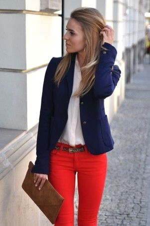 9 ways to wear red pants outfits at work - Page 4 of 9 - larisoltd.c