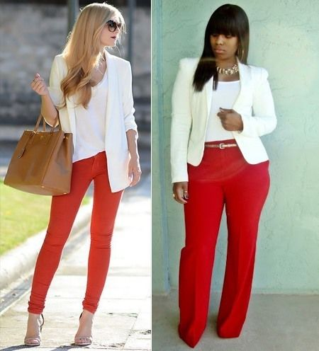 What To Wear With Red Pants: Puzzle Solved | Red pants outfit, Red .