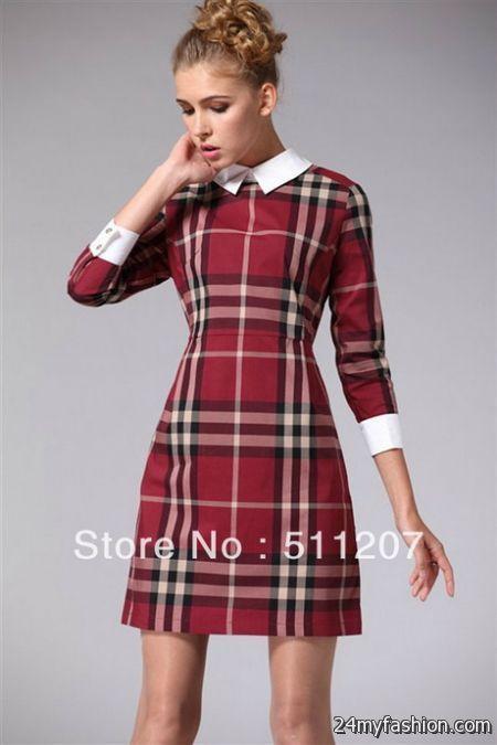 Red plaid dress 2017-2018 | Dress shirts for women, Plaid fashion .