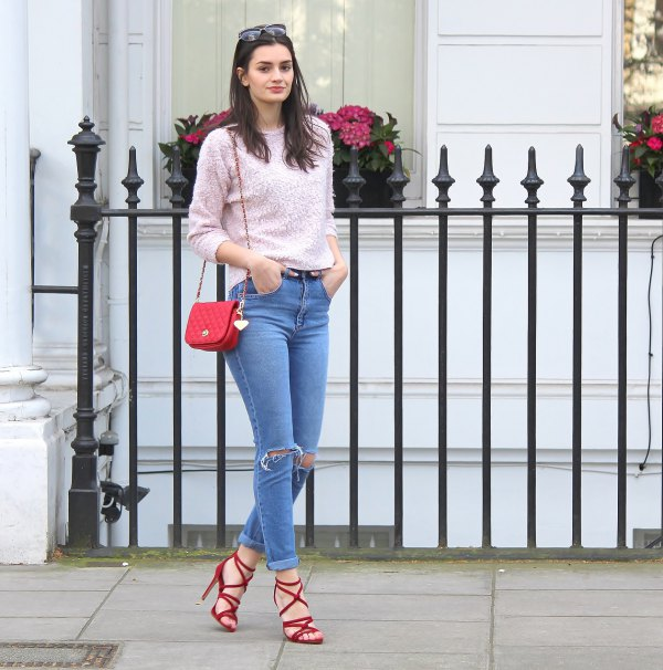 How to Style Red Strappy Heels in 15 Amazing Ways - FMag.c