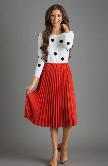 23+ Ideas Heels Red Outfit Midi Skirts For 2019 #heels | Red midi .
