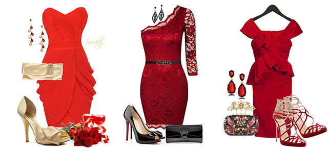 Polyvore Valentine's Day Casual Red Short & Long Dresses Ideas For .