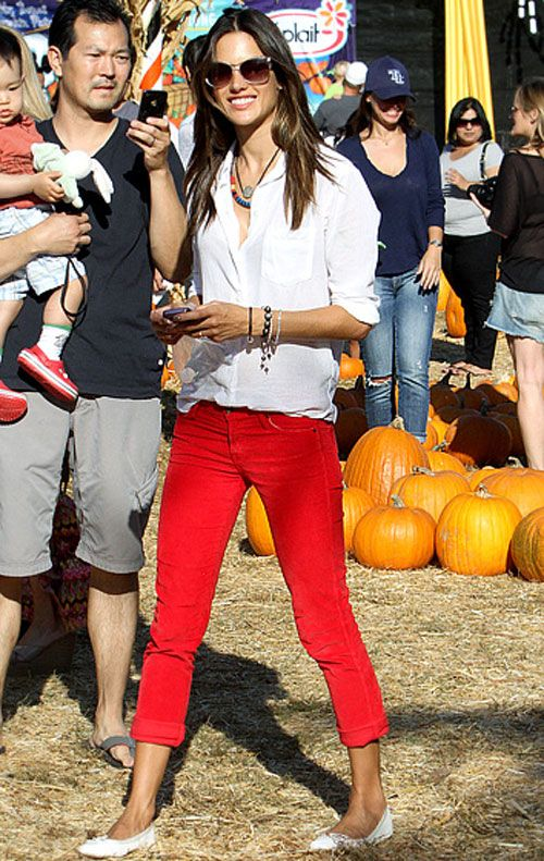 red jeans … Alessandra Ambrosio...I really need some red jeans .