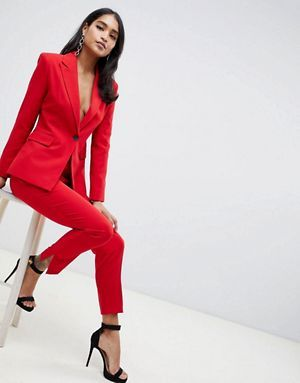 ASOS DESIGN Red Suit | Suits for women, Womens red su
