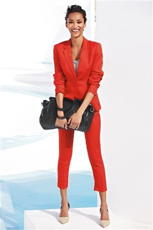 Statement Wedding Guest Outfit - red linen jacket   Wedding guest .