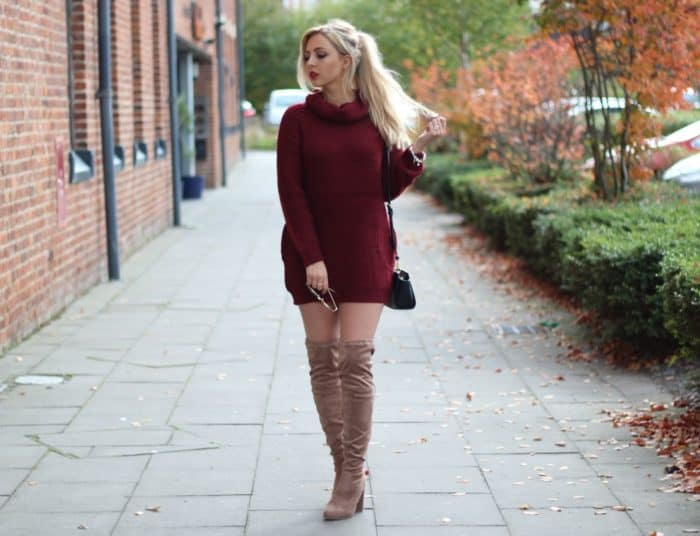 25 Stunning Sweater Dress Outfit Ideas – SheIde