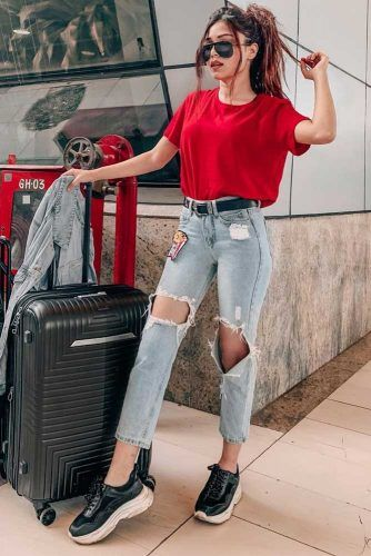 33 Airplane Outfits Ideas: How To Travel In Sty