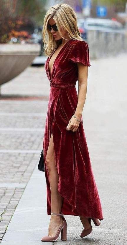 16+ Super Ideas For Dress Velvet Winter Colour | Velvet fashion .