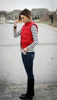 40 Cool Outfit Ideas with Puffy Vest | Vest outfits for women .