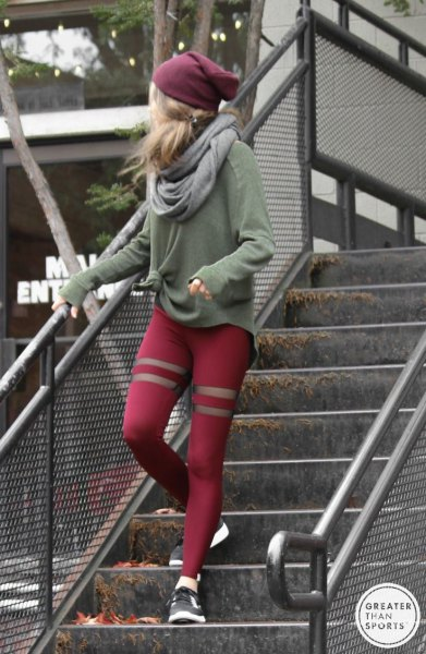 How to Wear Red Workout Leggings: Best 13 Eye Catching Outfits for .