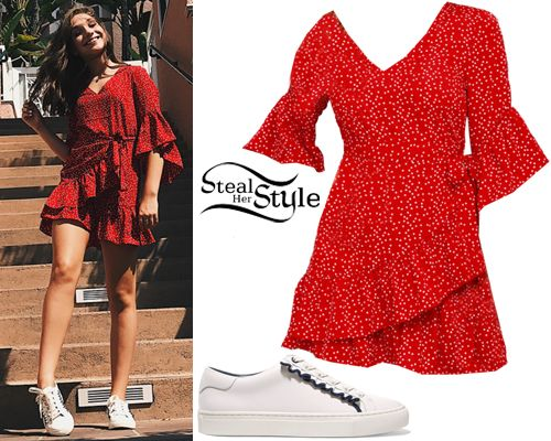 Maddie Ziegler: Red Wrap Dress, White Sneakers | Fashion, Fashion .
